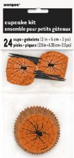 Halloween Spider and Web Cupcake Kit